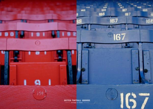 Mersey Seats (Wandbild) United Football Grounds