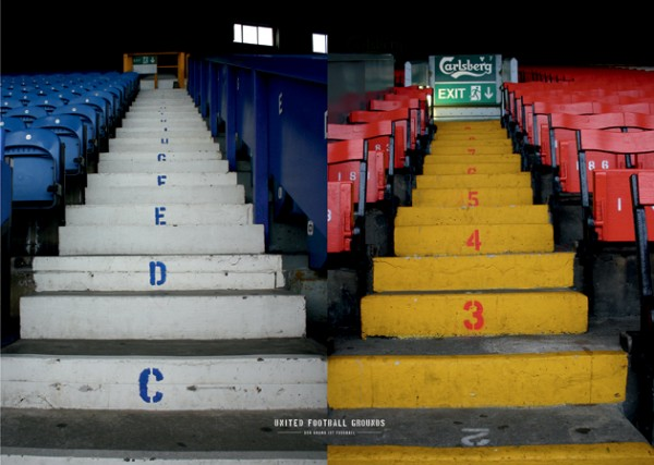 Mersey Stairs (Wandbild) United Football Grounds