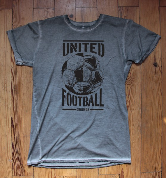 United Football Grounds T-Shirt (Betonstufengrau)