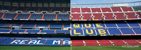 Real - Barca (Wandbild) United Football Grounds