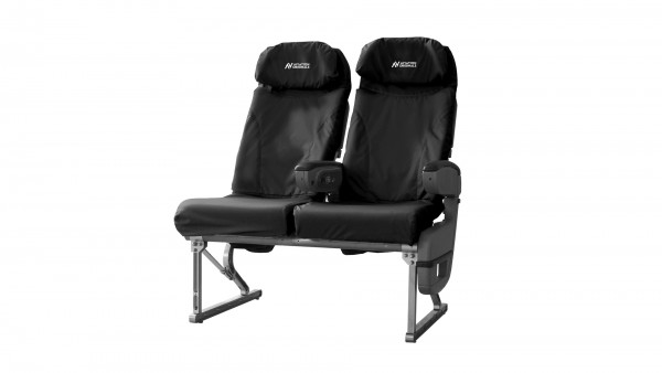 Aviation Originals Double Seat with new cover (black)