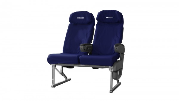 Aviation Originals Double Seat with new cover (dark-blue)