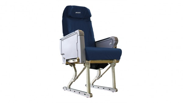 Aviation Originals Single Seat with new cover (denim-blue)