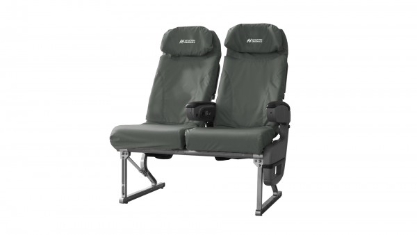 Aviation Originals Double Seat with new cover (grey)